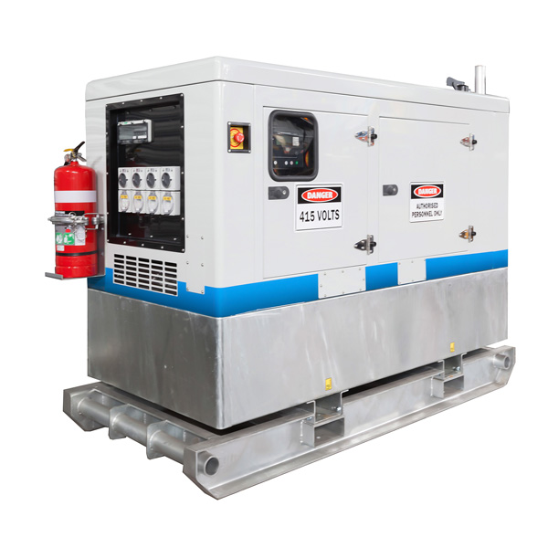 HEAVY DUTY GALVANISED SKID DIESEL GENERATORS 6kVA - 250kVA