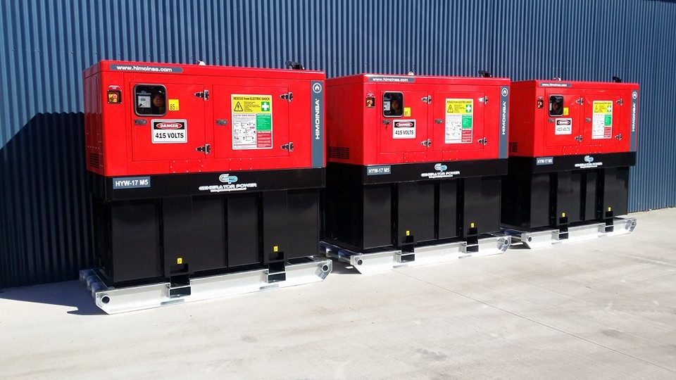 3 X Himoinsa HYW-17 M5 13KVA Single Phase Bma Mine Spec Diesel Generators