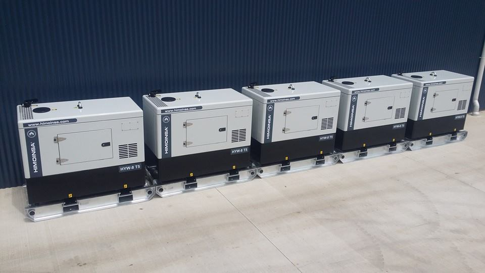 5 X Himoinsa HYW-8 T5 Diesel Generators For DE-WATERING