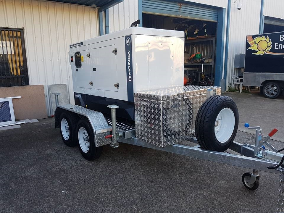 Himoinsa 40kVA 3PH Trailer Mounted Generator Providing Prime Power