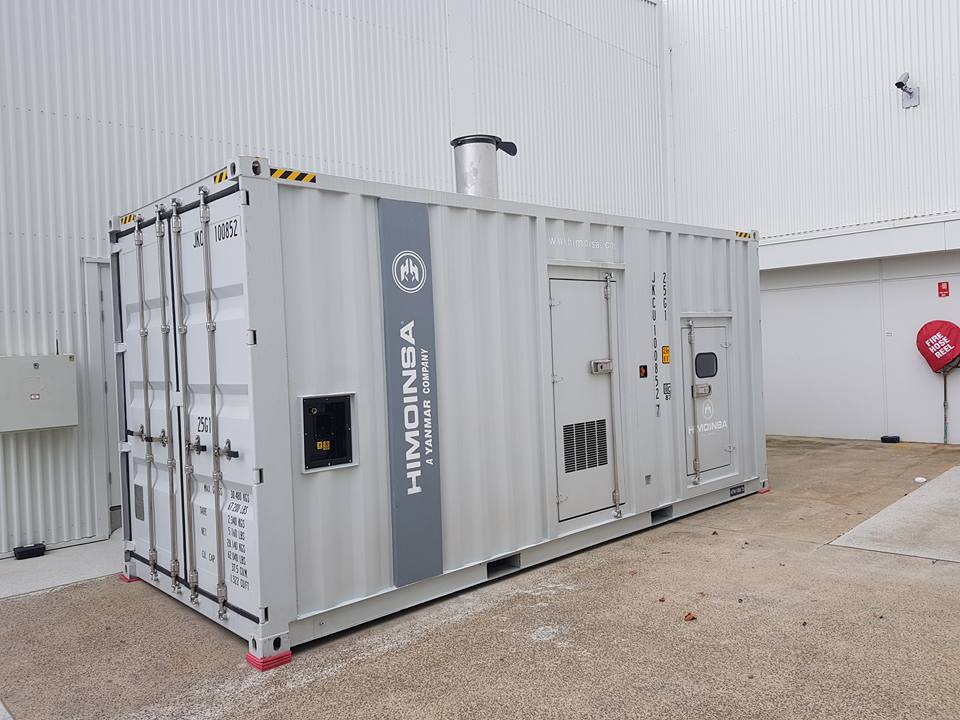 HIMOINSA HYW-1260 T5 Diesel Generator - Food Distribution Centre Brisbane