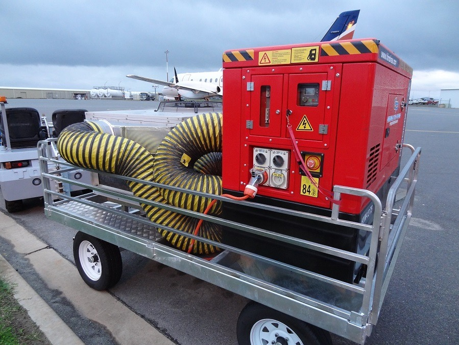 Himoinsa 12.5kVA 3PH Trailer Mounted Generator Providing Prime Power