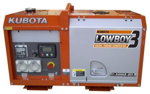KUBOTA GL6000 DIGITAL 6KVA SINGLE PHASE DIESEL GENERATOR