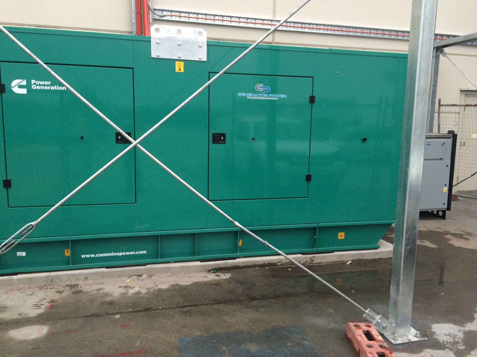 CUMMINS C550D5 550KVA DIESEL GENERATOR WITH VIKING 200KW AUTO LOAD SHEDDING LOAD BANK – SHOPPING CENTRE SYDNEY