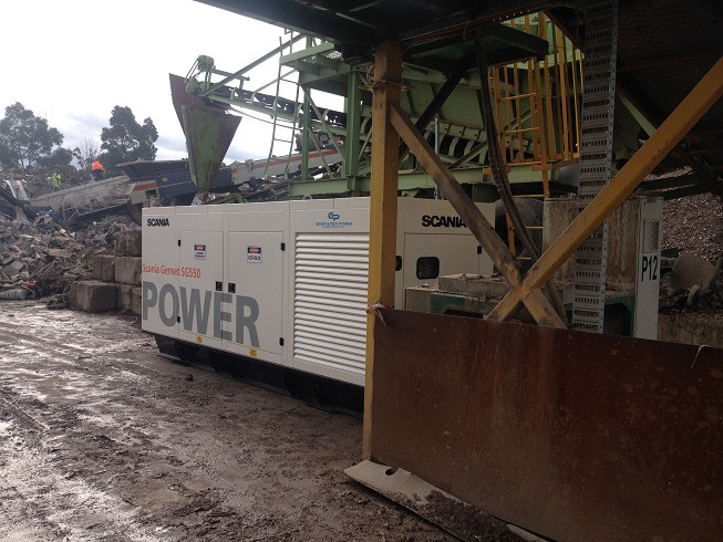 SCANIA SG550 500KVA DIESEL GENERATOR – MATERIAL RECYCLING PLANT